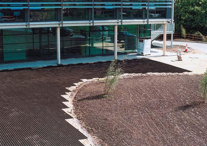 Grass grid laid grid grass system