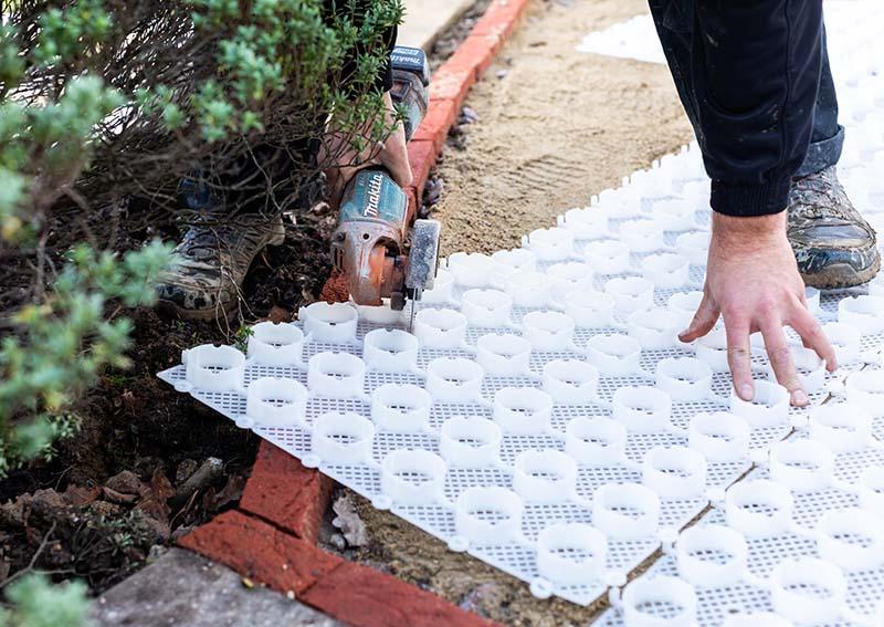 Gravel driveway mat project customer story