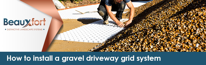 How to install a gravel driveway grid system