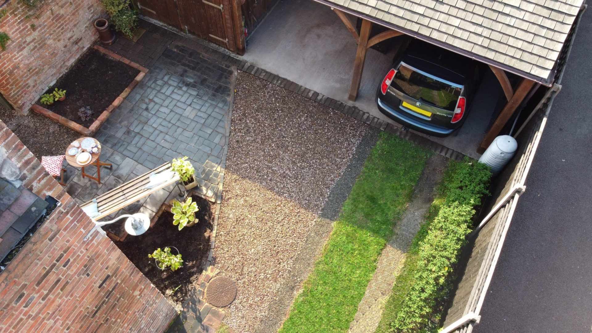 Our grass driveway grid allows grass to maintain a healthy appearance